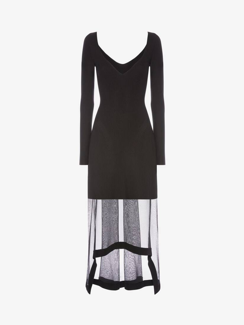 Display a large version of the product image 1 - Engineered Rib Knit Dress