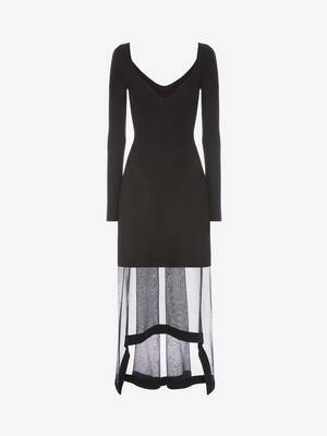 Engineered Rib Knit Dress