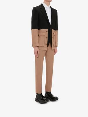 Military Jacket With Pocket Panels