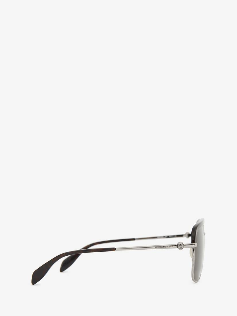 Display a large version of the product image 2 - Metal Skull Square Sunglasses