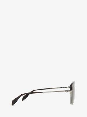 Metal Skull Square Sunglasses