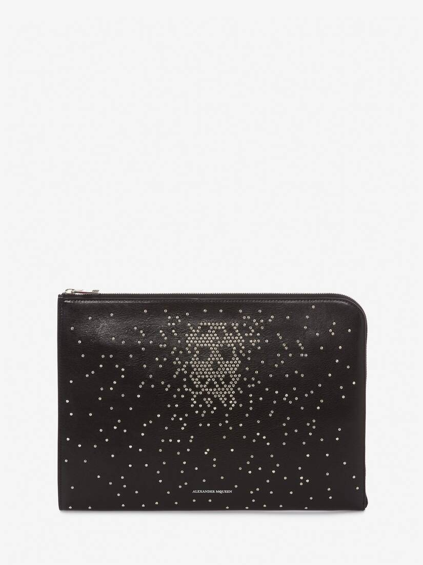 Display a large version of the product image 1 - Studded Leather Half-Zip Pouch
