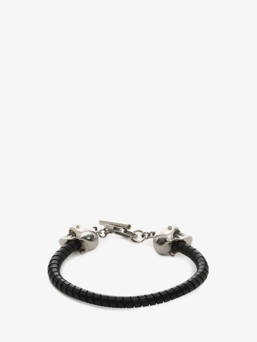 Display a large version of the product image 2 - Skull Leather Bracelet