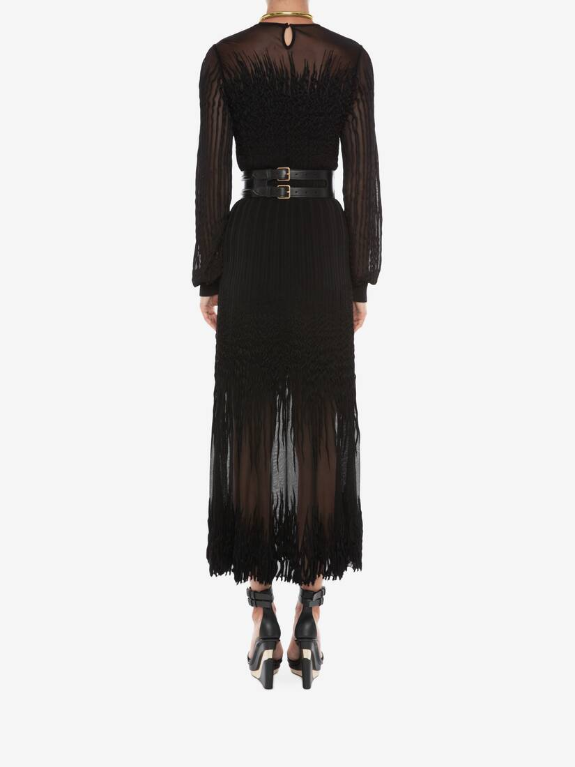 Display a large version of the product image 4 - Sheer knit Midi Dress