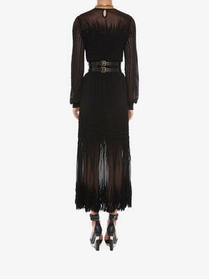 Sheer knit Midi Dress