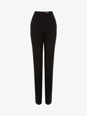 Light Wool Silk Long Tuxedo Trouser