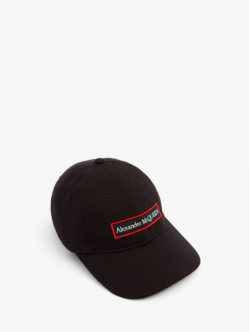 Display a large version of the product image 1 - Embroidered Alexander McQueen Selvedge Baseball Cap