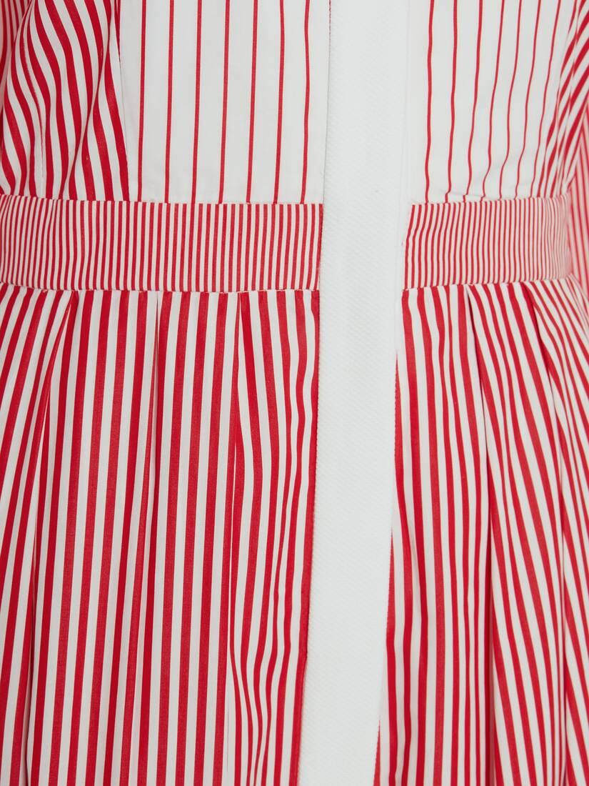 Patchwork Stripe Shirt Dress