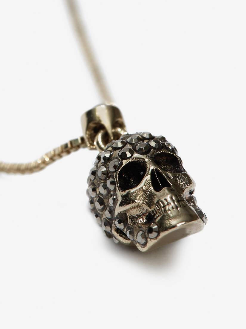 Display a large version of the product image 3 - Pave Skull Necklace