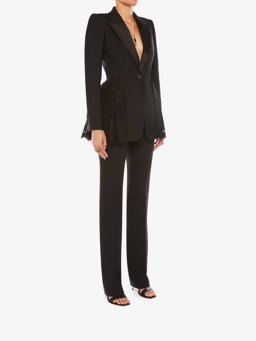 Display a large version of the product image 3 - Light Wool Silk Long Cigarette Trouser