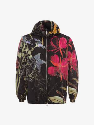 Deconstructed Floral Windbreaker
