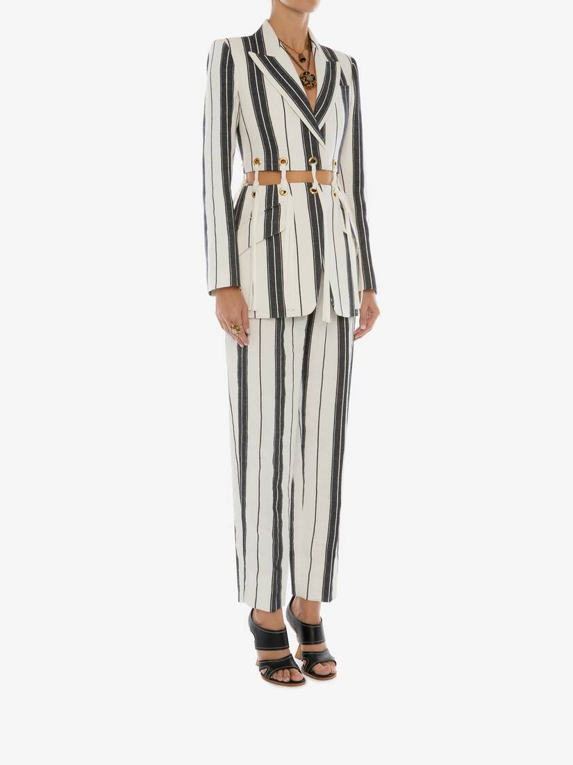 Display a large version of the product image 3 - Linen Stripe Jacket