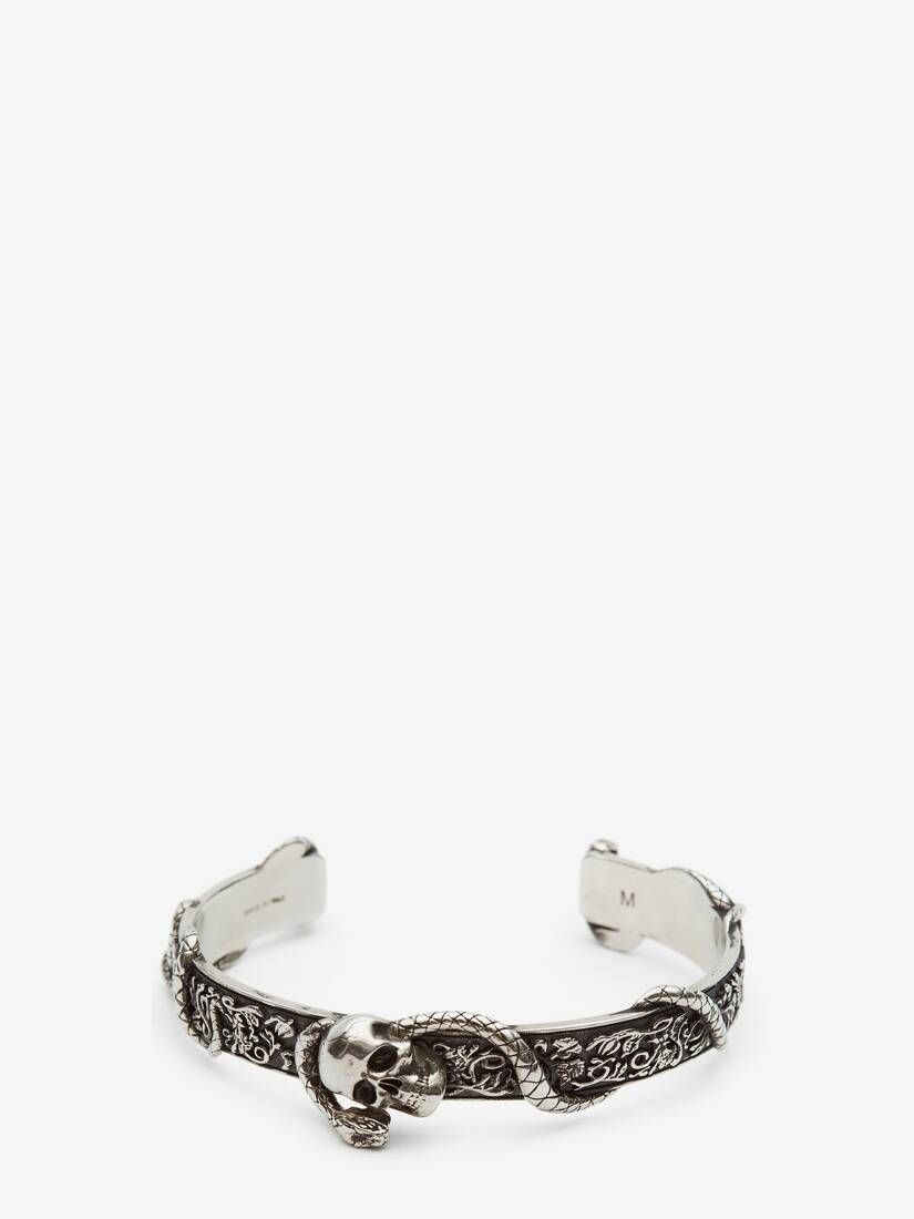 Display a large version of the product image 1 - Skull and Snake Bracelet