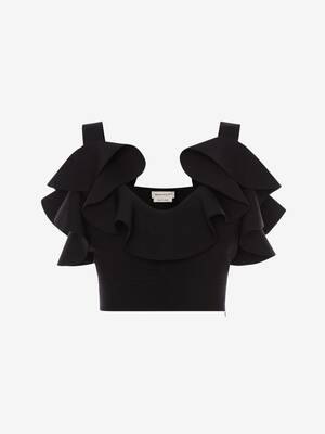 Engineered Sculpted Knit Top