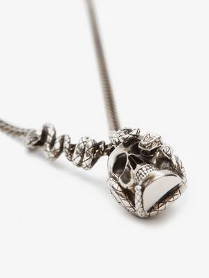 Skull and Snake Necklace