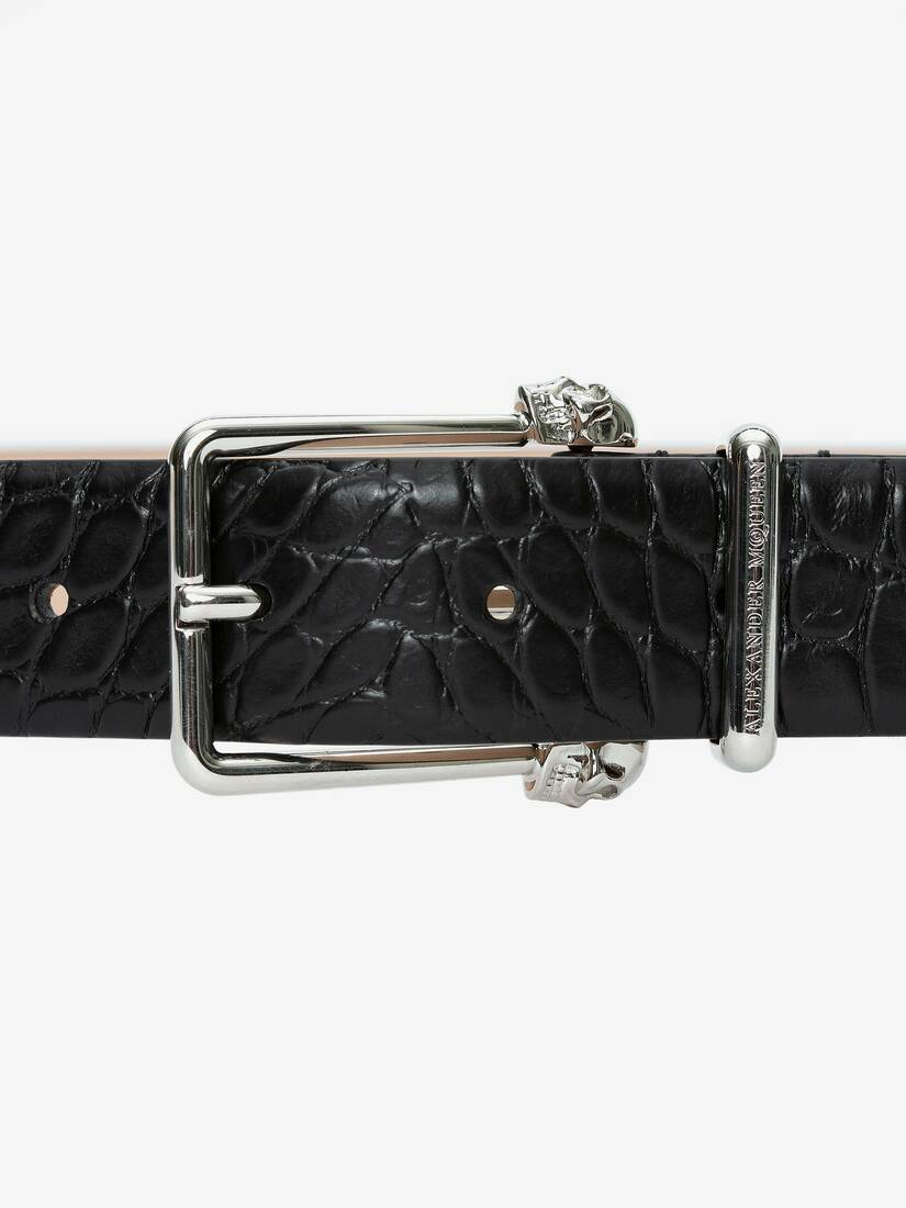 Display a large version of the product image 3 - Twin Skull Leather Belt