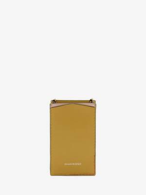 Étui pour smartphone en cuir à chaîne