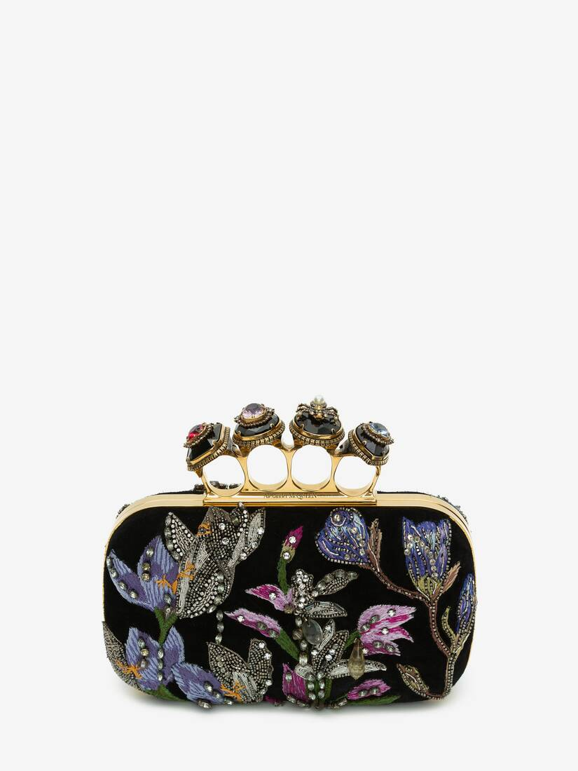 Display a large version of the product image 1 - Spider Jewelled Four-Ring Box Clutch