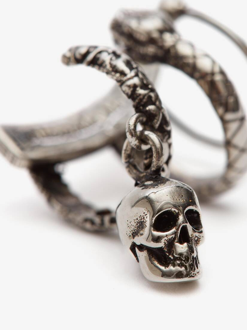Display a large version of the product image 4 - Skull and Snake Ear Cuff