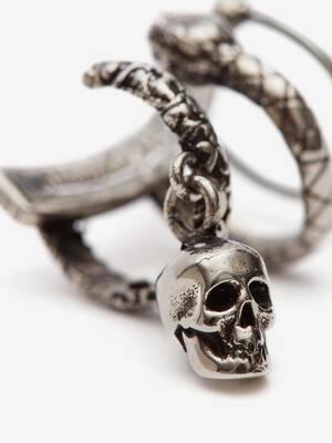 Skull and Snake Ear Cuff
