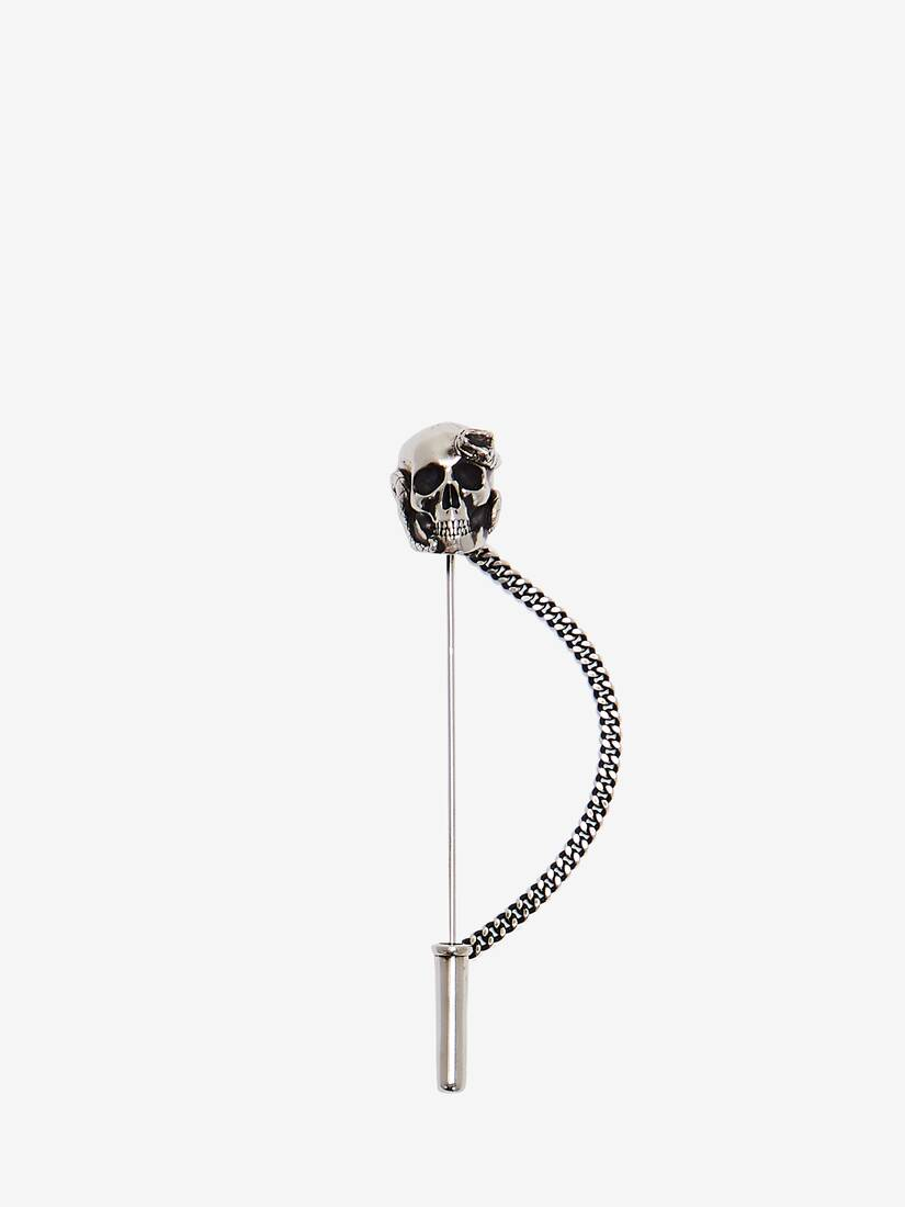 Display a large version of the product image 1 - Skull and Snake Pin