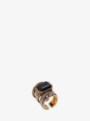 Jewelled Stacked Ring