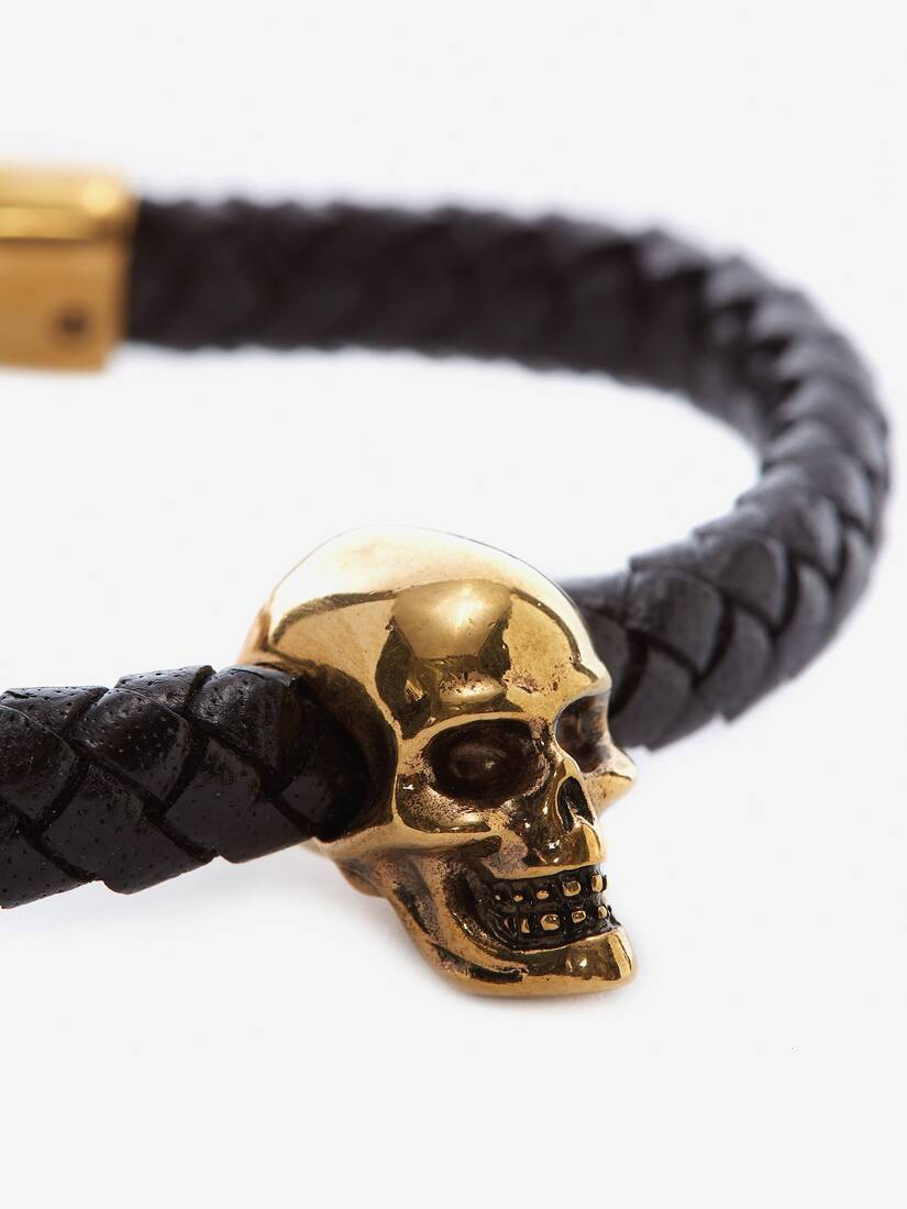 Display a large version of the product image 3 - Skull Leather Bracelet