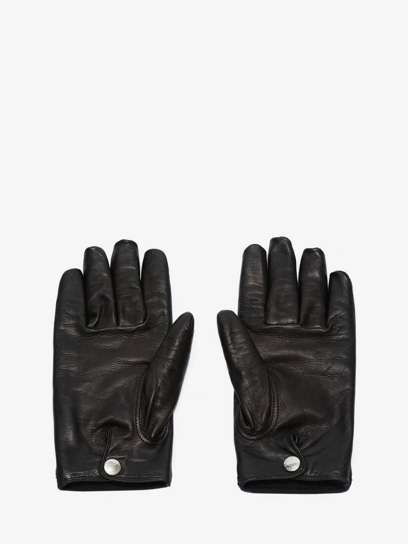 Display a large version of the product image 2 - Woven Felt Leather Gloves