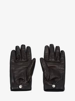 Woven Felt Leather Gloves