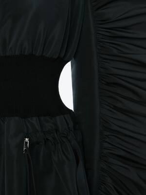 Hybrid Bomber Midi Dress