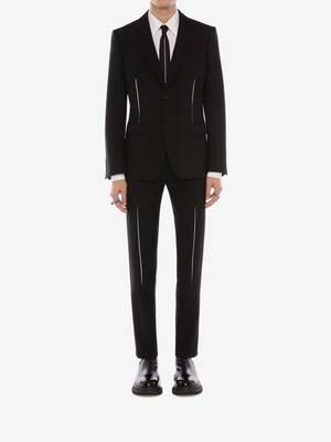 Slashed Dart Detail Trousers
