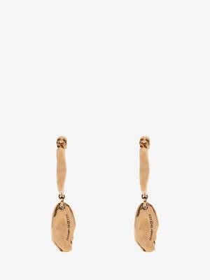 Creolen-Ohrringe mit Molten-Anhänger