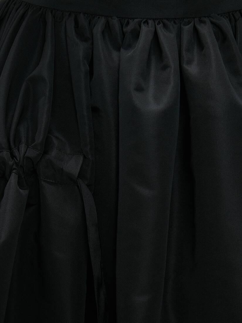 Drawstrings Gathered Midi Skirt