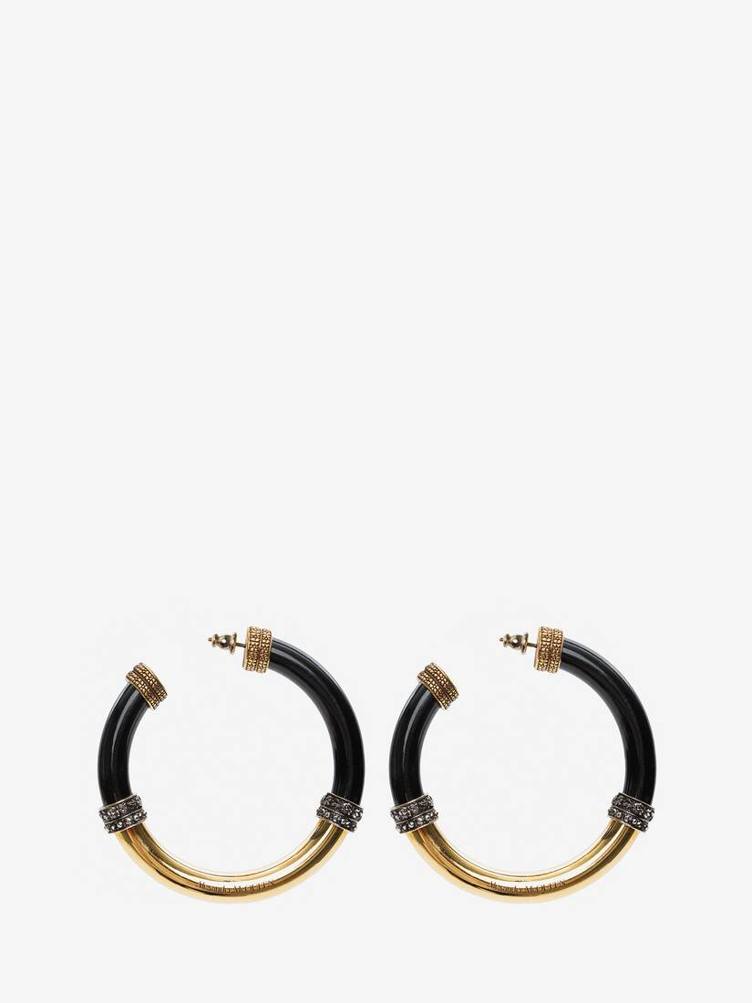 Display a large version of the product image 2 - Resin Hoop Earrings