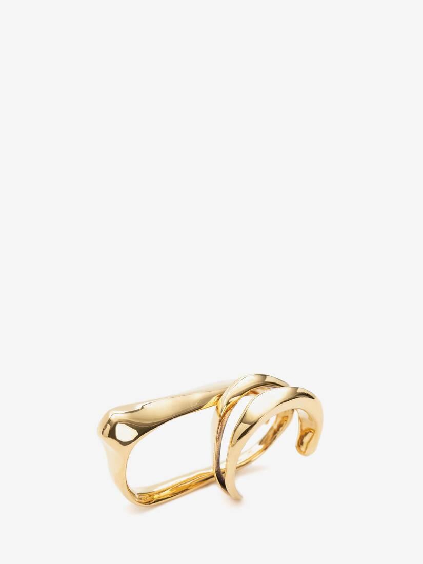 Display a large version of the product image 2 - Sculptural Double Ring