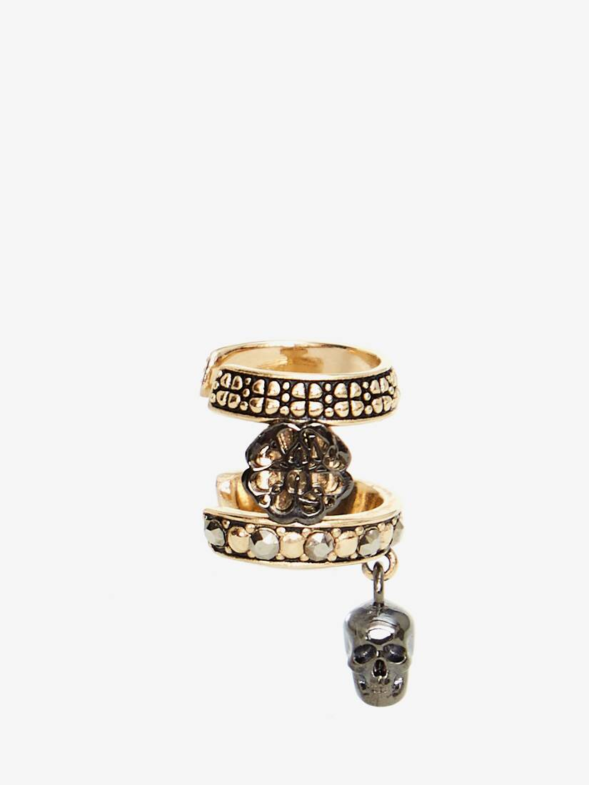 Display a large version of the product image 1 - Skull and Charm Seal Ear Cuff