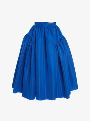 Exploded Gathered Midi Skirt