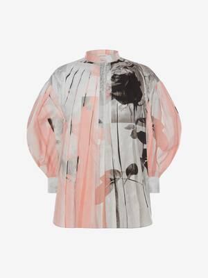 Camicia Trompe-l'oeil in Popeline