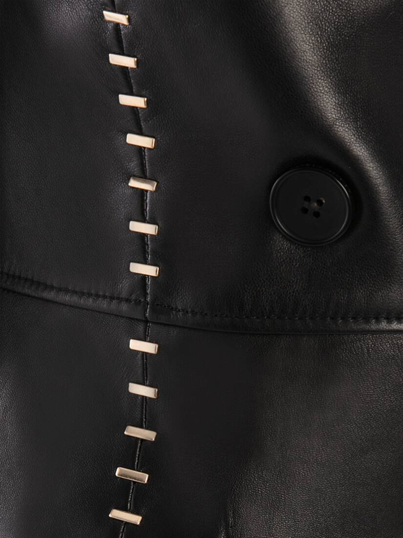 Display a large version of the product image 5 - Stapled Leather Coat