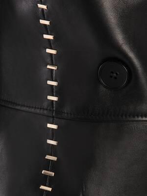Stapled Leather Coat