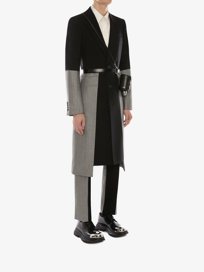 Display a large version of the product image 3 - Panelled Trompe L'œil Tailored Coat