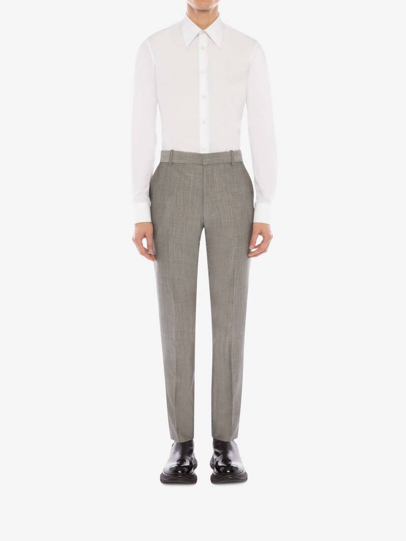 Display a large version of the product image 3 - McQueen Classic Shark Wool Mohair Trousers