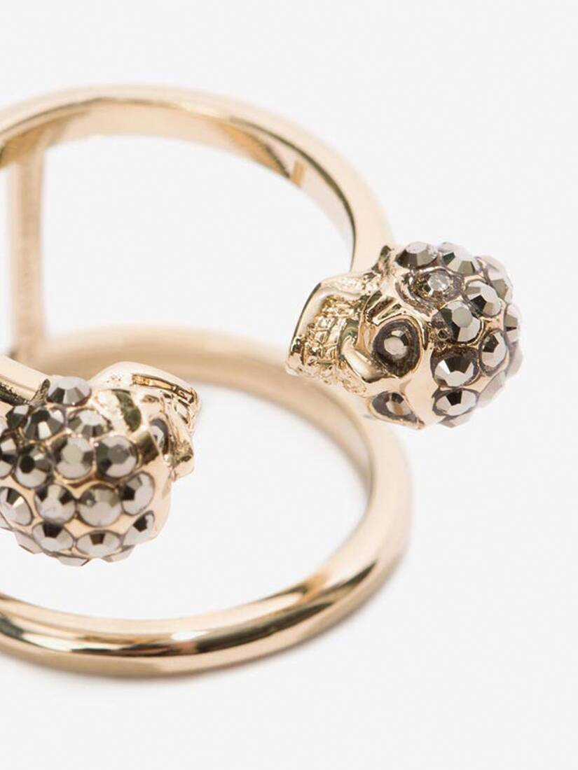 Display a large version of the product image 3 - Doppelring mit Twin Skull