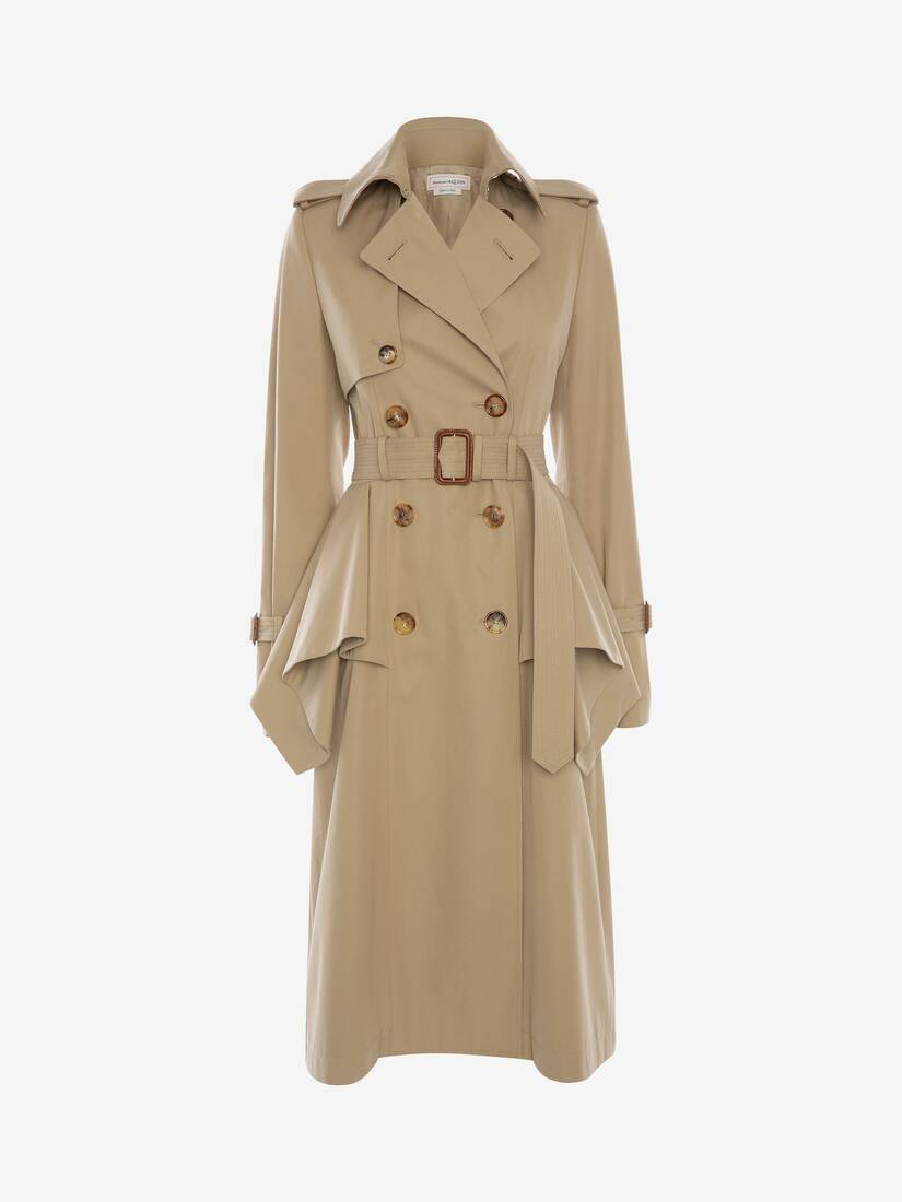 Display a large version of the product image 1 - Peplum Trench Coat