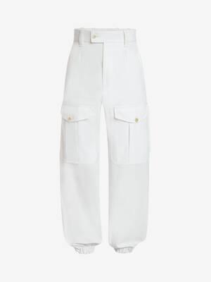 Japanese Cotton Gabardine Baggy Military Trousers