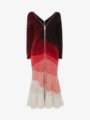 Engineered Dégradé Rib Knit Dress