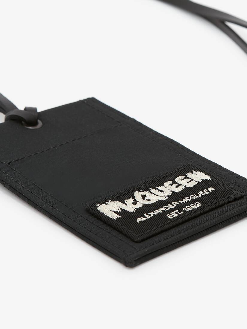 McQueen Tag Card Holder with Strap