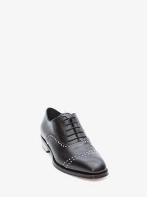 金属跟牛津系带鞋