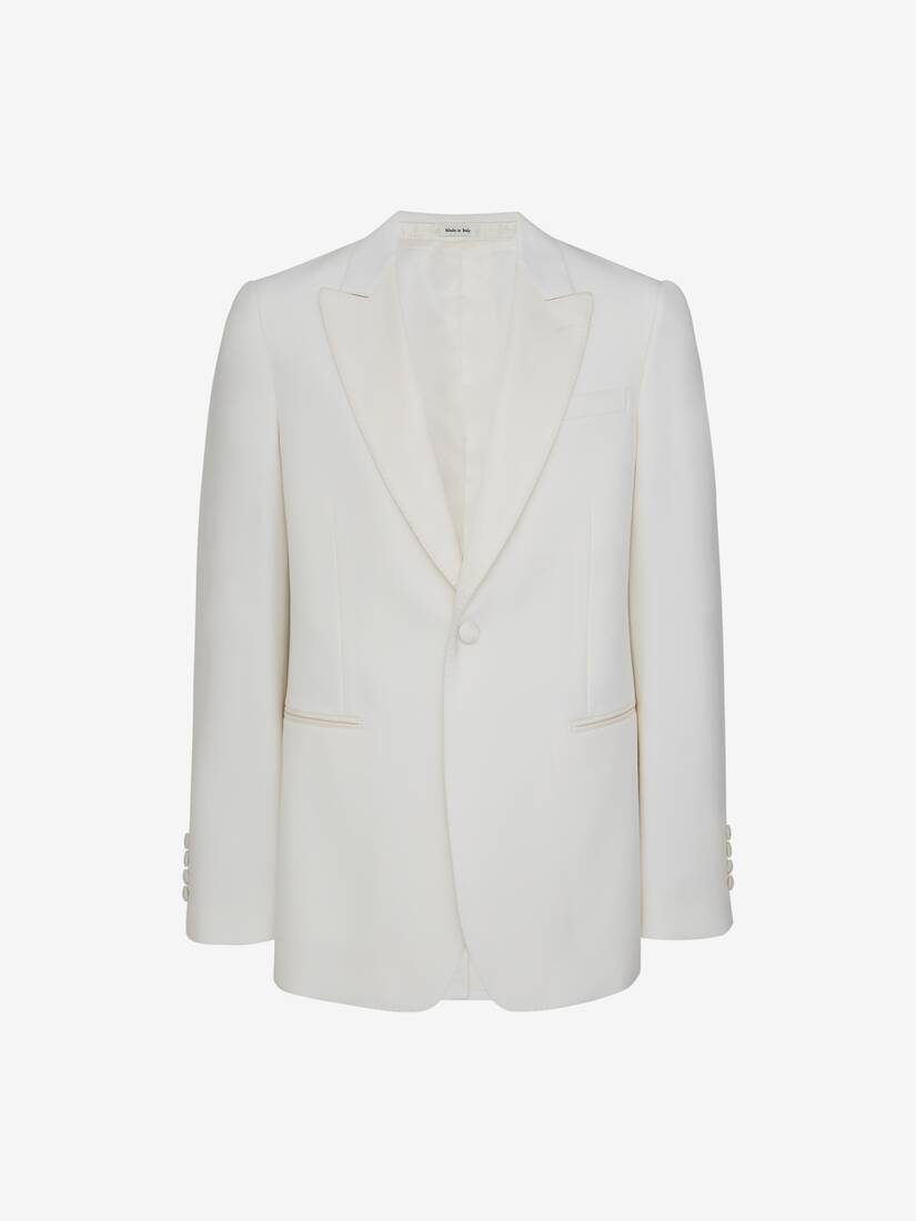 Display a large version of the product image 1 - Wool Silk Tuxedo Jacket