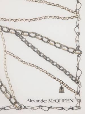 Chain Skull Silk Shawl